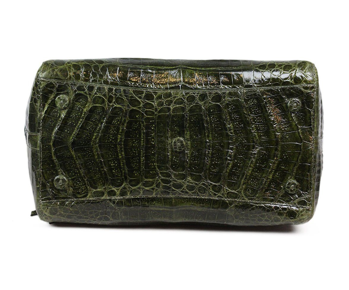Nancy Gonzalez Green Alligator Handbag 4