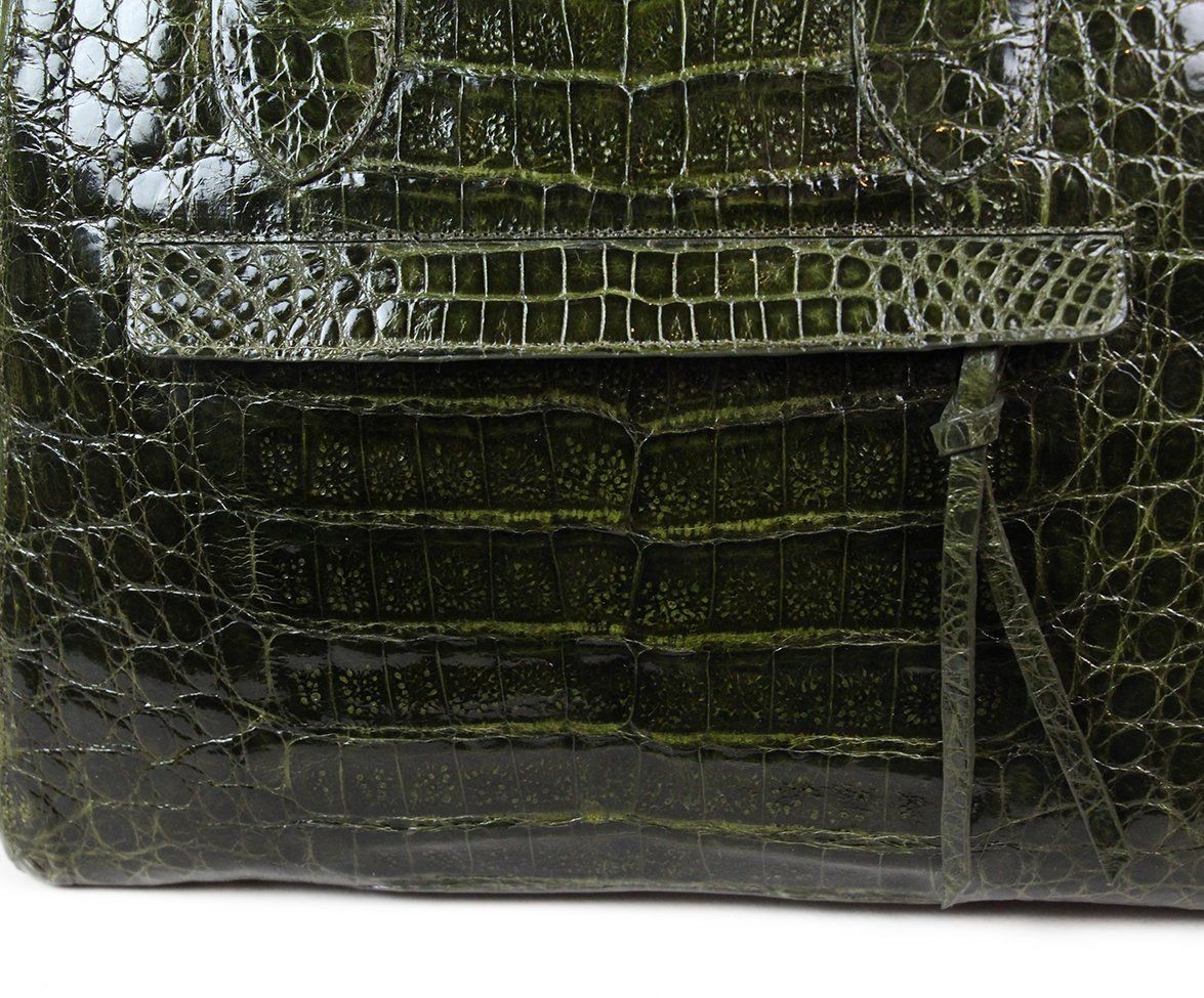 Nancy Gonzalez Green Alligator Handbag 7