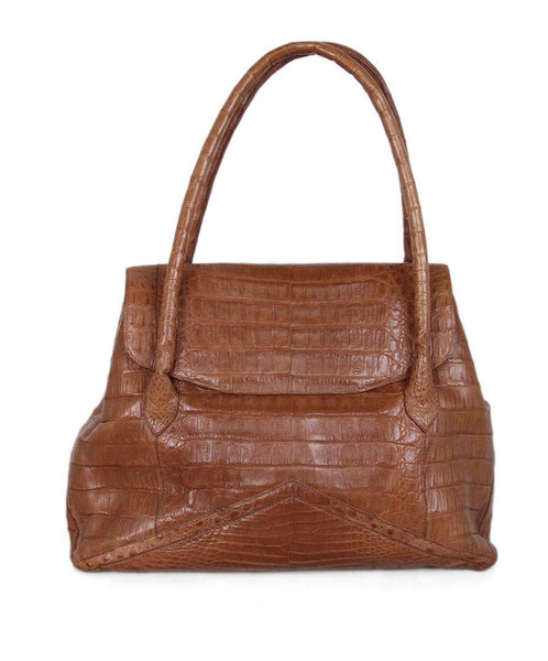 Nancy Gonzalez Tan Alligator Satchel 1
