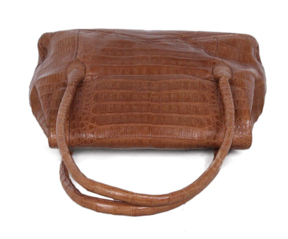 Nancy Gonzalez Tan Alligator Satchel 5