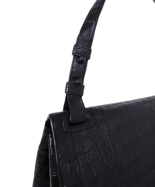 Nancy Gonzalez Black Crocodile Shoulder Bag Handbag 8