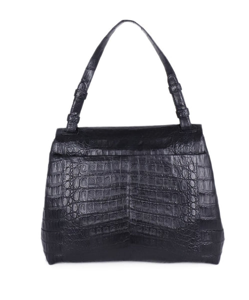 Nancy Gonzalez Black Crocodile Shoulder Bag Handbag 3