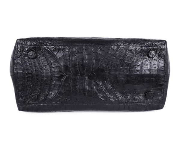 Nancy Gonzalez Black Crocodile Shoulder Bag Handbag 4