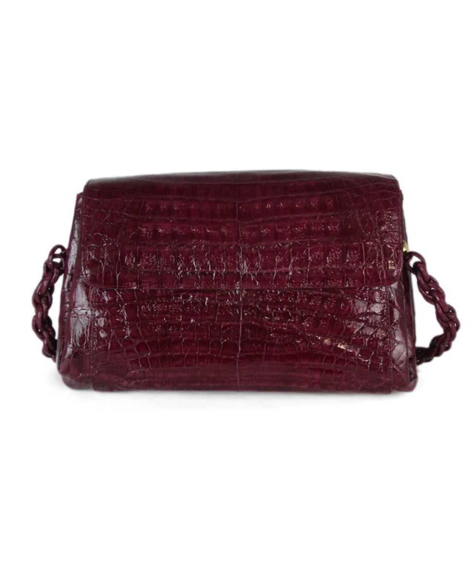 Nancy Gonzalez purple crocodile shoulder bag 1