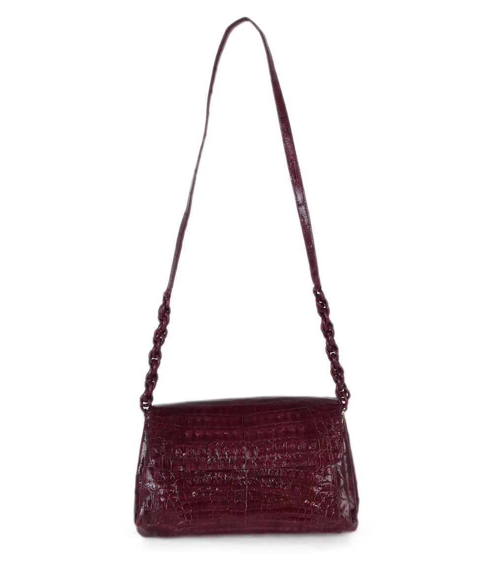 Nancy Gonzalez purple crocodile shoulder bag 2