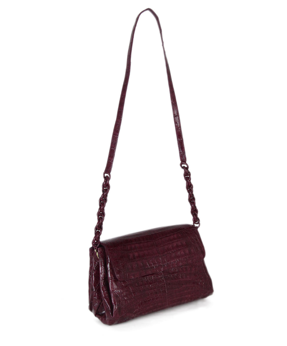 Nancy Gonzalez purple crocodile shoulder bag 3