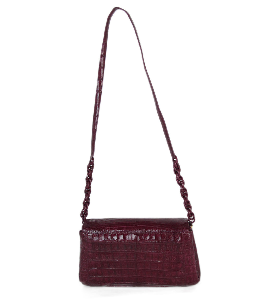 Nancy Gonzalez purple crocodile shoulder bag 4
