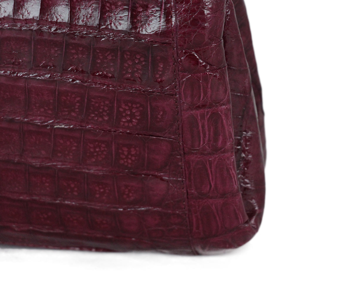 Nancy Gonzalez purple crocodile shoulder bag 9