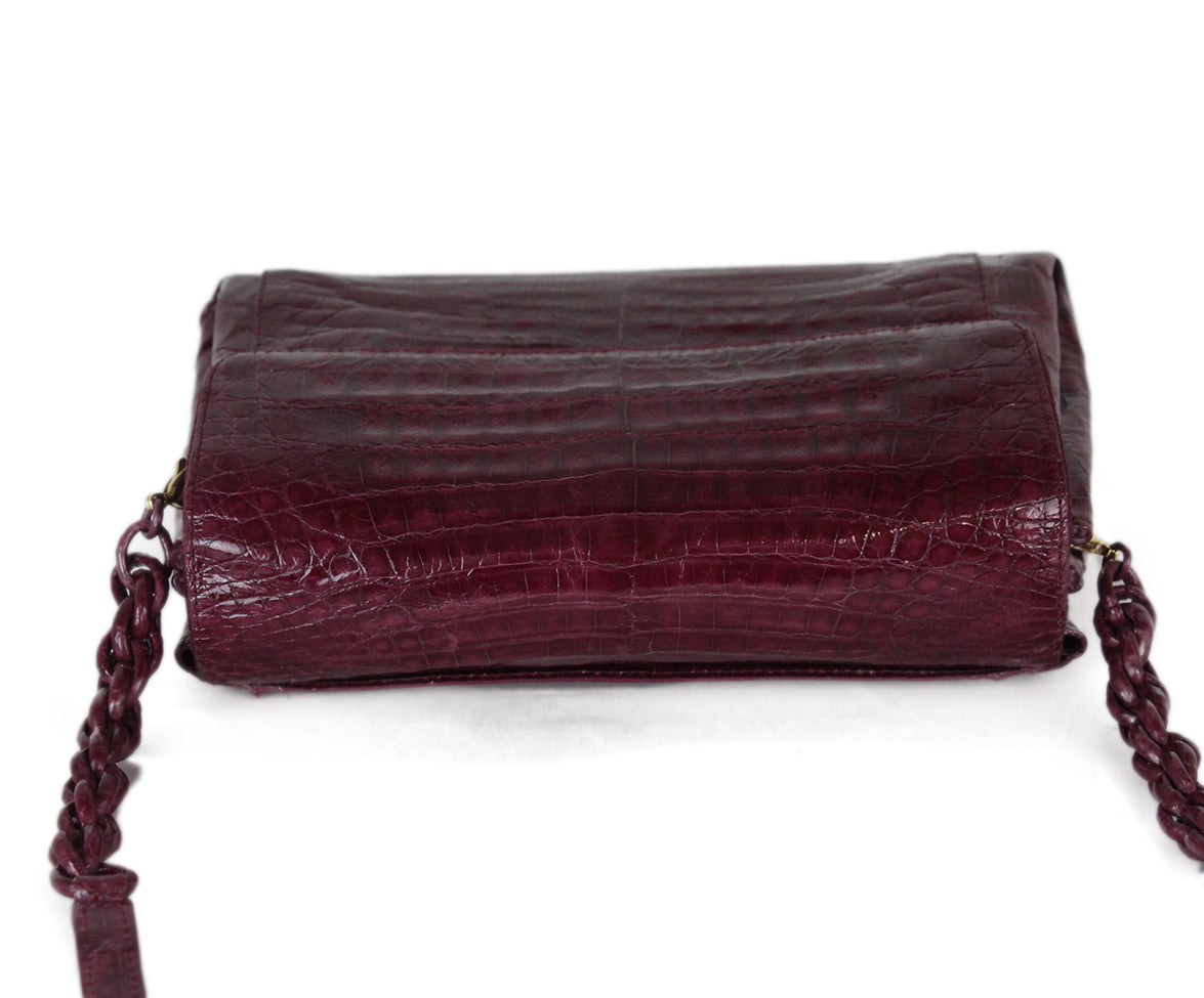 Nancy Gonzalez purple crocodile shoulder bag 6