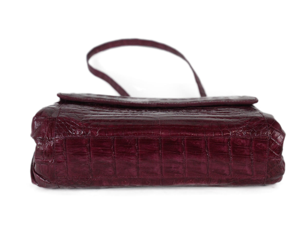 Nancy Gonzalez purple crocodile shoulder bag 5