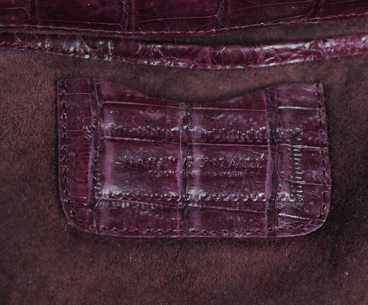 Nancy Gonzalez purple crocodile shoulder bag 8