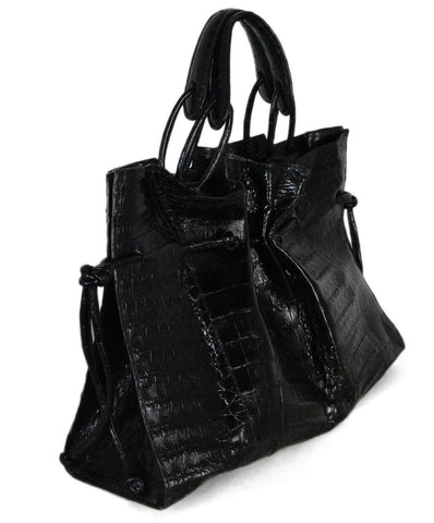 Nancy gonzalez black crocodile bag with dust bag 1