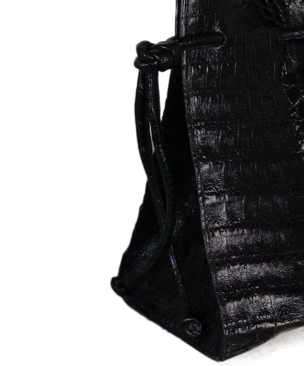 Nancy gonzalez black crocodile bag with dust bag 8