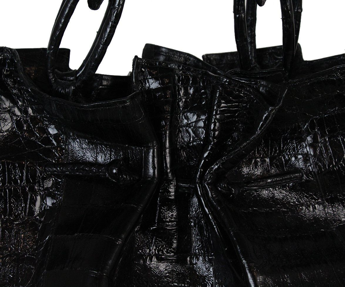 Nancy gonzalez black crocodile bag with dust bag 9