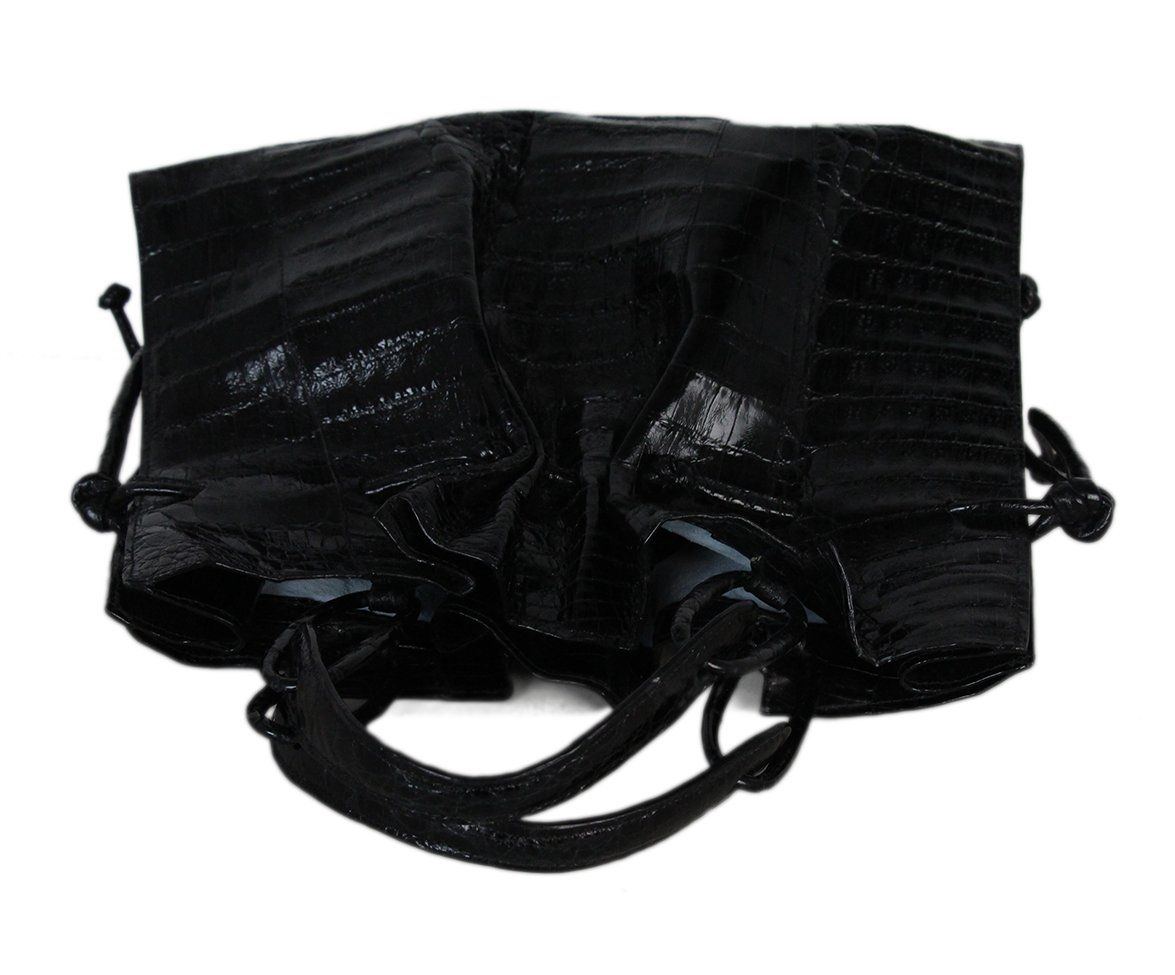 Nancy gonzalez black crocodile bag with dust bag 5