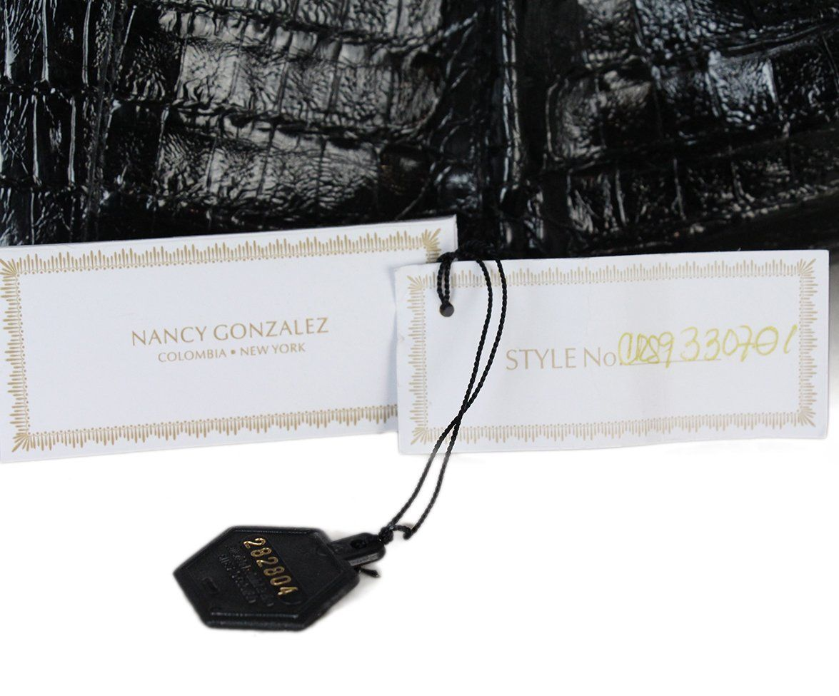Nancy gonzalez black crocodile bag with dust bag 10
