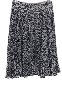 Nanette Lepore Neutral Animal Print Skirt 1