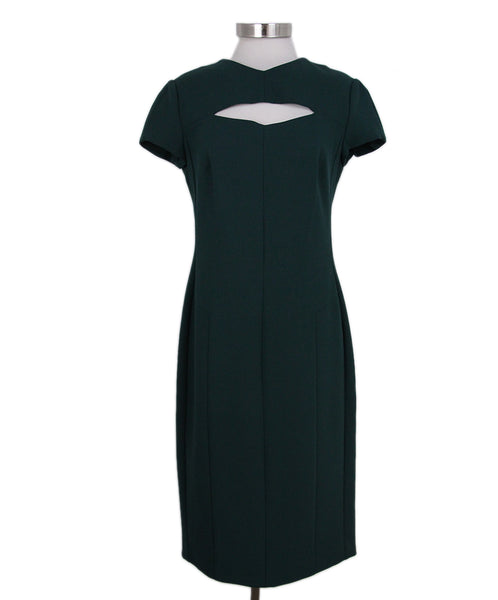 Narciso Rodriguez Green Wool Dress 1