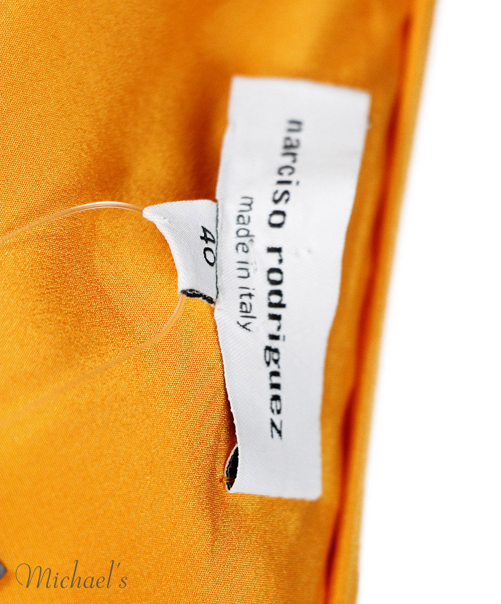 Narciso Rodriguez Orange Dress Sz 40