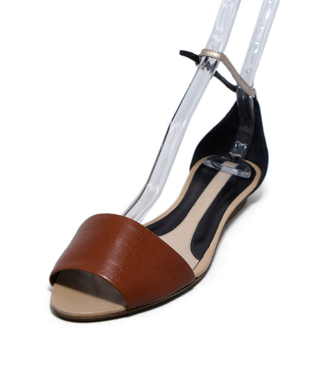 Celine Navy Burgundy Leather Sandals Sz. 38