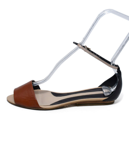 Narciso Rodriguez Brown Black Leather Sandals 2