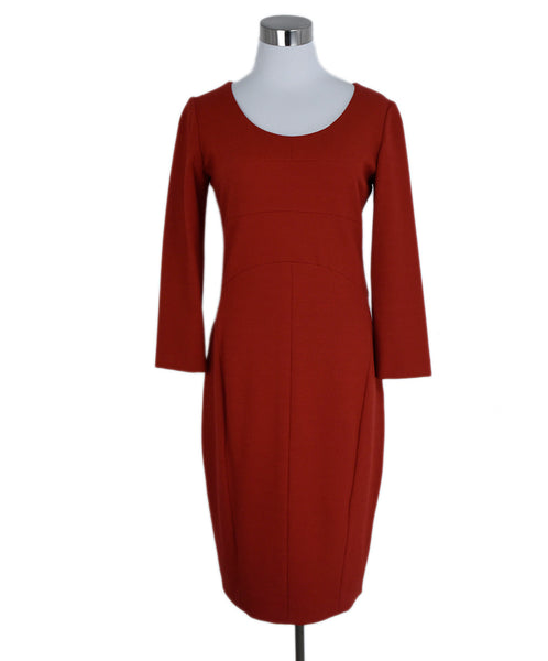 Narciso Rodriguez Red Wool Dress 1
