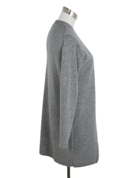 Nehera Grey Wool Cardigan with Double Layer Front Panel 2