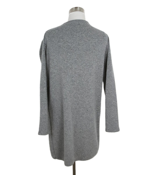 Nehera Grey Wool Cardigan with Double Layer Front Panel 3