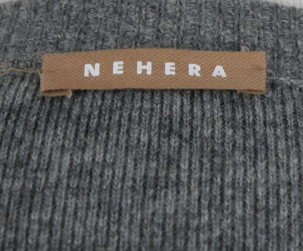 Nehera Grey Wool Cardigan with Double Layer Front Panel 4