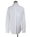 Blouse Neil Barrett White Cotton Black Trim Longsleeve Top 2