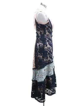 Nanette Lepore Blue Pink Polyester Lace Dress 1