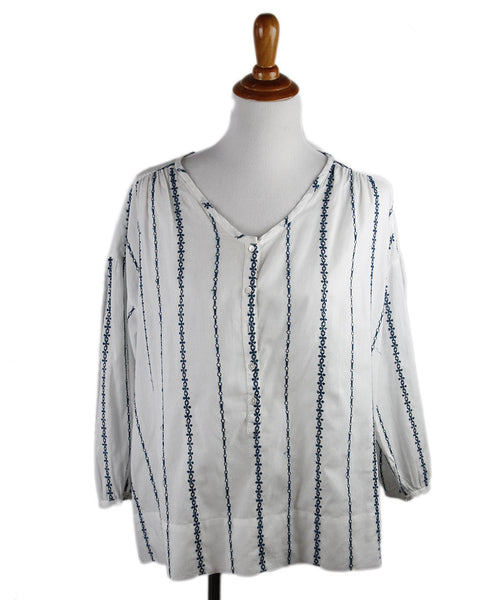 Nili Lotan White Cotton Top Sz 4