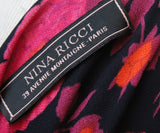 Nina Ricci Fuchsia Floral Print Viscose Dress 4