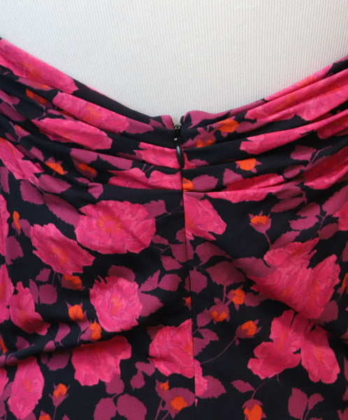 Nina Ricci Fuchsia Floral Print Viscose Dress 5