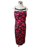 Nina Ricci Fuchsia Floral Print Viscose Dress 1
