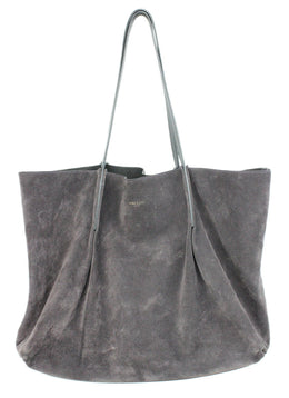 Nina Ricci Purple Brown Suede Handbag 1