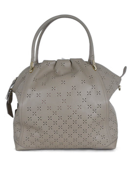 Nina Ricci Taupe Cutwork Leather Handbag 1