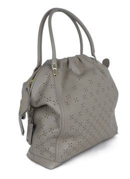 Nina Ricci Taupe Cutwork Leather Handbag 2
