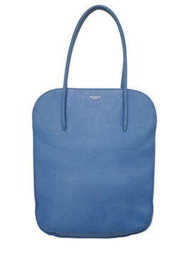 "Nina Ricci ""Irrisor Grain"" Blue Leather Tote"