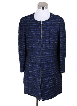 Nina Ricci Blue Stripes Cotton Jacket