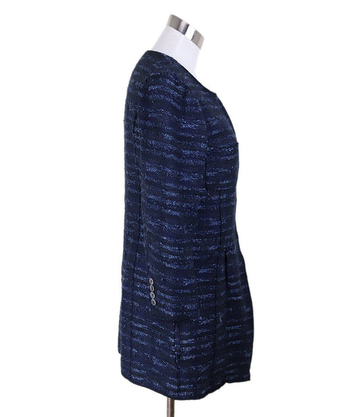 Nina Ricci Blue Stripes Cotton Jacket 2