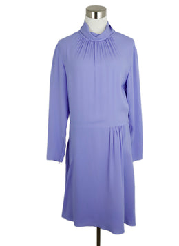 Nina Ricci Lavender Silk Longsleeve Dress 1