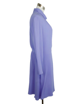 Nina Ricci Lavender Silk Longsleeve Dress 2