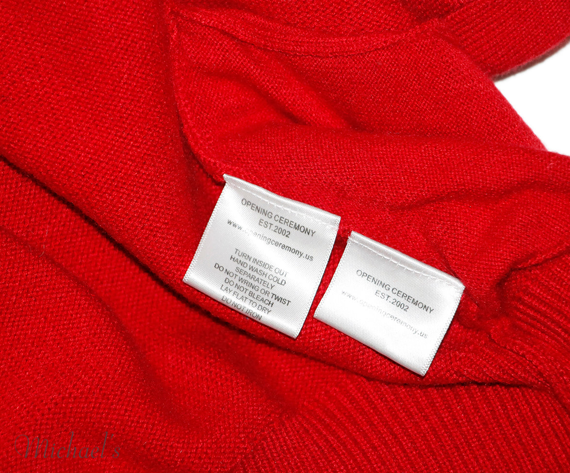 Opening Ceremony Red Wool Sweater Sz M