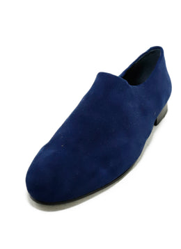 Opening Ceremony Blue Navy Suede Flats 1