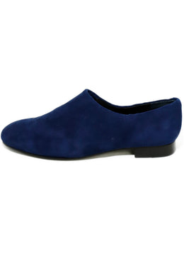 Opening Ceremony Blue Navy Suede Flats 2