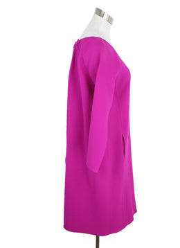 Oscar De La Renta Pink Fuchsia Wool Dress 1