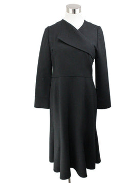 Oscar De La Renta Black Wool Dress 1