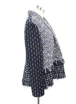 Oscar de la Renta Blue White Tweed Jacket 2