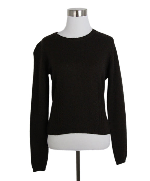 Oscar de la Renta Brown Cashmere Sweater 1